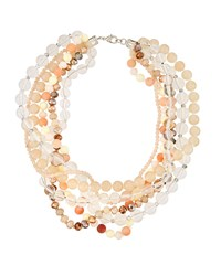 Fragments For Neiman Marcus Lucite Twisted Statement Necklace Multi