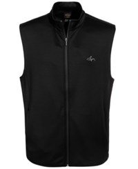 Greg Norman For Tasso Elba Men's Hydrotech Heathered Zip Vest Only At Macy's Deep Black