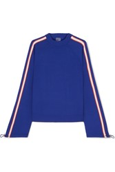 P.E Nation Salute Striped Knitted Sweater Blue