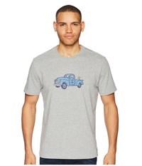 Life Is Good Classic Truck Crusher Tee Heather Gray T Shirt