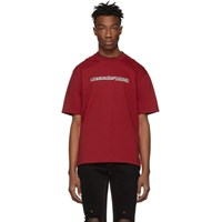 Alexander Wang Red Printed Double T Shirt