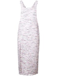 Julien David Tweed Detail Dress White