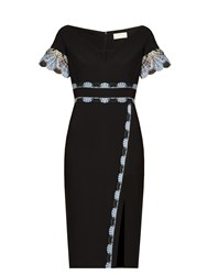 Peter Pilotto Lace Trim Cady Dress Black