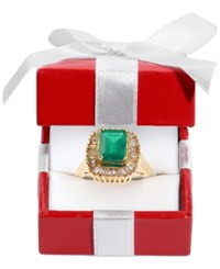 Effy Collection Gemma By Effy Sapphire 1 5 8 Ct. T.W. And Diamond 5 8 Ct. T.W. Ring In 14K White Gold Green