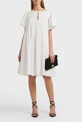 Paul And Joe Sister Camille Detailed Front Cotton Dress White