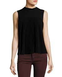 Theory Sleeveless Pleated Top Black
