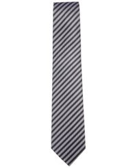 Countess Mara Men's Buchanan Stripe Tie Black White