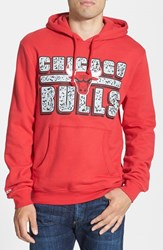 Men's Mitchell And Ness 'Chicago Bulls Bold Block' Tailored Fit Hoodie
