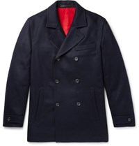 Connolly Slim Fit Cashmere Peacoat Navy