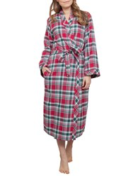Cyberjammies Holly Check Dressing Gown Red Multi