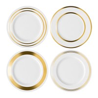 Lsa International Deco Assorted Gold Dinner Plate Set Of 4