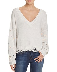 Wildfox Couture Sparkle Shapes Sweater Flecked White
