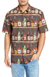 O'neill Men's Jack Jack's Tavern Regular Fit Short Sleeve Print Sport Shirt