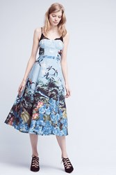 Anthropologie Scenic View Dress Blue Motif