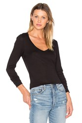 Velvet By Graham And Spencer Atlanta Long Sleeve Tee Black