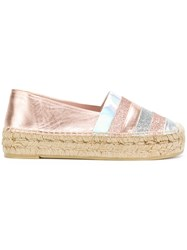 Minna Parikka Metallic Espadrilles Pink And Purple