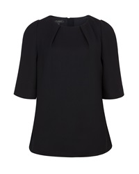 Ted Baker Sydelle Textured Tunic Top Black