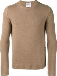 Valentino Crew Neck Jumper Brown