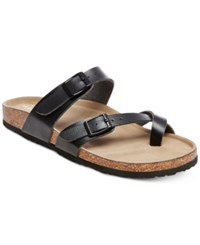 Madden Girl Bryce Footbed Sandals Women's Shoes Black