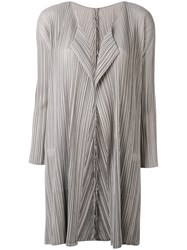 Issey Miyake Pleats Please By Pleated Coat Women Polyester 4 Grey