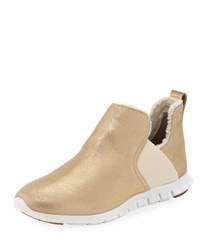 Cole Haan Zerogrand Slip On Sneakers Gold Metallic