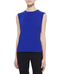 Etro Sleeveless Solid Cady Top Cobalt
