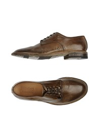 Silvano Sassetti Footwear Lace Up Shoes Men Khaki