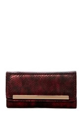 Urban Expressions Shadow Snake Embossed Vegan Leather Wallet Red