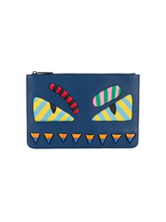 Fendi Bag Bugs Zip Pouch Blue