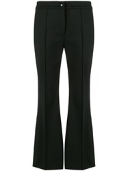 Marco De Vincenzo Flared Cropped Trousers Black