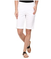 Jag Jeans Ainsley Bermuda Classic Fit Bay Twill White Women's Shorts