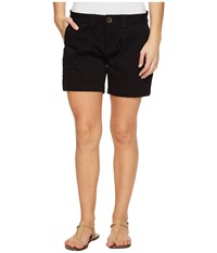 Jag Jeans Petite Somerset Relaxed Fit Shorts In Bay Twill Black Women's Shorts