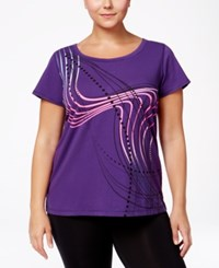 Ideology Plus Size Graphic T Shirt Only At Macy's Night Iris