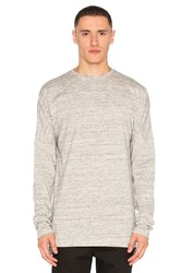 Publish L S Drop Shoulder Tee Grey