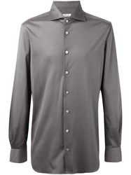 Kiton Satin Effect Shirt Green