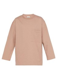Lemaire Oversized Cotton Jersey Sweater Pink