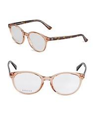 Gucci 50Mm Oval Optical Glasses Red