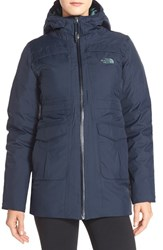 The North Face Women's 'Empire' Hyvent Waterproof Down Jacket Cosmic Blue