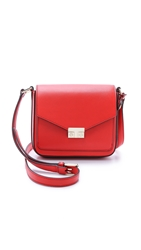 Tory Burch T Lock Mini Flap Cross Body Bag Masaai Red