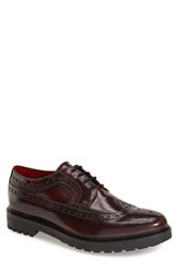 Men's Base London 'Davy' Wingtip Bordo