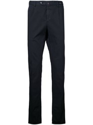 Pt01 Slim Fit Cropped Trousers Black