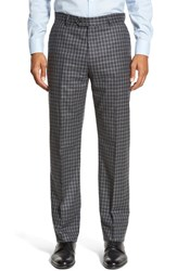 Men's Strong Suit 'Dagger' Flat Front Check Wool Trousers