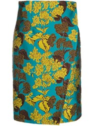 Gianluca Capannolo Floral Jacquard Wrap Skirt 60