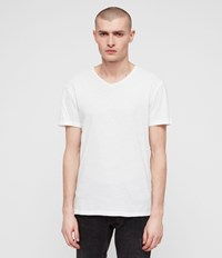 Allsaints Figure V Neck T Shirt Optic White