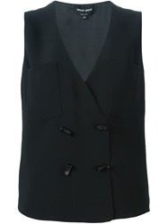 Giorgio Armani Double Breasted Waistcoat Black