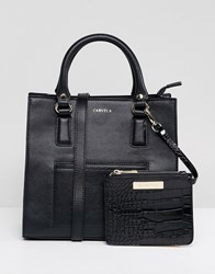 Carvela Simba Pocket Tote Bag Black Comb