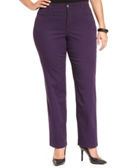 Style And Co. Plus Size Tummy Control Slim Leg Pants