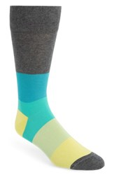 Calibrate Blocked Ombre Socks Charcoal Yellow