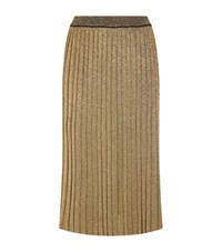 Tory Burch Glitter Maxi Skirt Female Gold