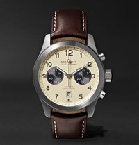 Bremont Alt1 Classic Cr Automatic Chronograph 43Mm Stainless Steel And Leather Watch Cream
